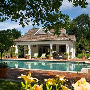 Farmhouse pool photo in New York