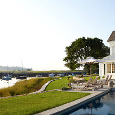 Traditional Pool by Peter Zimmerman Architects