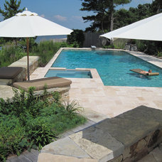 Contemporary Pool by Wallace Landscape Associates