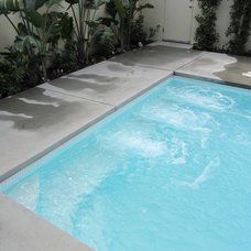 Modern Pool by Sunkist Pools & Renovations
