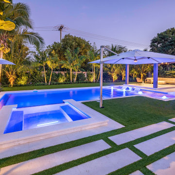 New Pool & Spa with Custom Landscaping in Cooper City