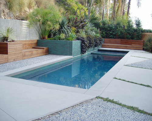 Pebble tiles home design ideas pictures remodel and decor for Pond surround ideas