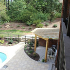 Lake forest classic rectangular pool with spa - Aiken swimming pool company aiken sc ...