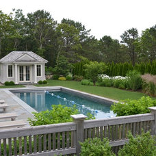 Traditional Pool by Kirsti Moestue Landscape Design