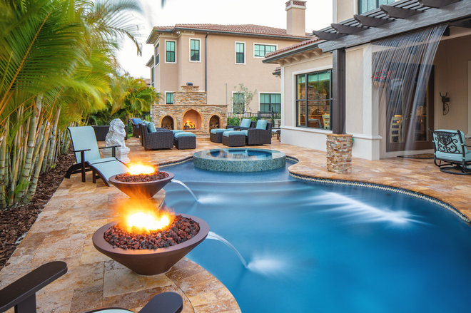 Mediterranean Pool by Van Kirk & Sons Pools and Spas