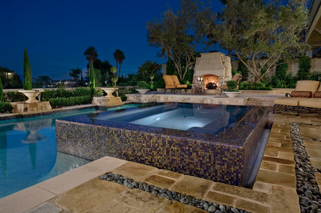 Contemporary Pool by Mirage Landscape
