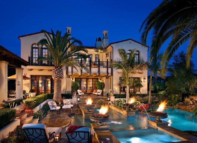 Mediterranean Pool by Mark Scott Associates | Landscape Architecture