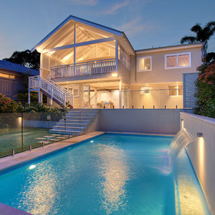 Inspiration for a transitional rectangular pool remodel in Sydney