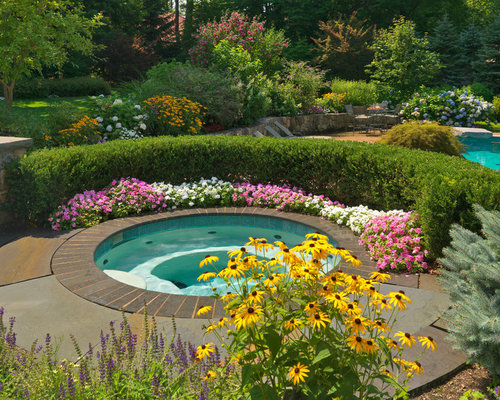 Poolside Landscaping Home Design Ideas Pictures Remodel