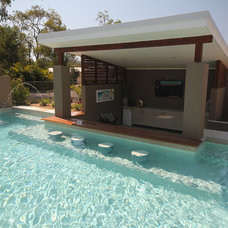 Contemporary Pool by Living Style Landscapes