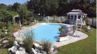 NJ Classic Pool in Garden Setting