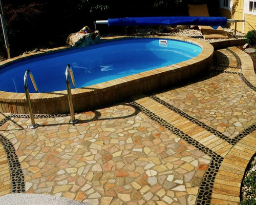 Pond, Pool, Waterfall, Teich, Pool, Wasserfall Gartendesign Mit Pool