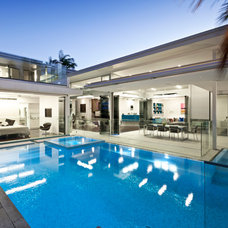 Contemporary Pool by 4blue