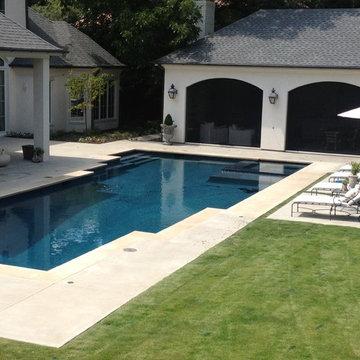 North Dallas, TX - Contemporary Pool and Landscape