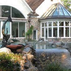 Eclectic Pool North Shore (Barrington Hills) Conservatory