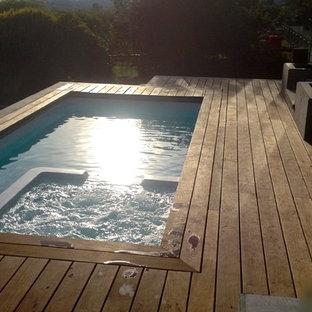 North Vancouver Fibreglass Plunge Pool, Swim Spa, Spa Combo