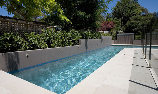 lap pools in narrow spaces