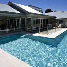 Modern Pool by Crystal Pools
