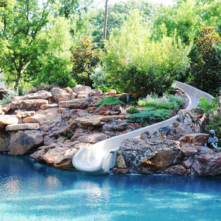 Example of a classic natural water slide design in Dallas