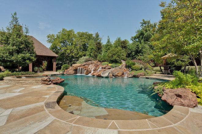 Traditional Pool by Rosewood Custom Builders