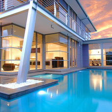 Contemporary Pool by Aspect Designs