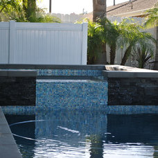 Modern Pool by Sea Breeze Landscaping Construction