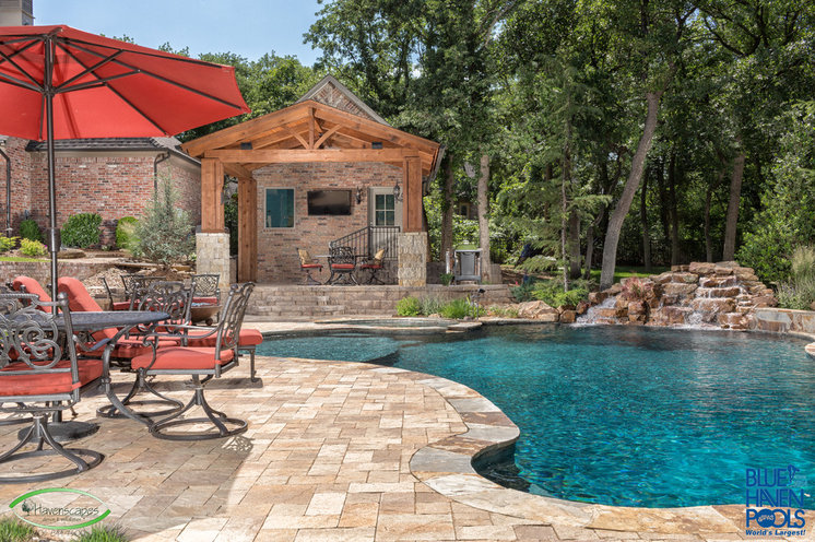 Rustic Pool by J. Allen Designs