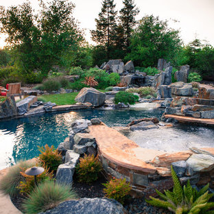 Pool - rustic pool idea in Sacramento