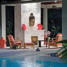 Asian Pool by Larry's Cap Rock & Stone