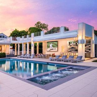 Imagen de piscina contemporánea grande