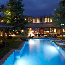 Contemporary Pool by jamie jackson design