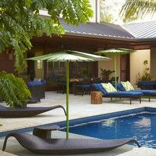 Beach Style Pool by jamie jackson design