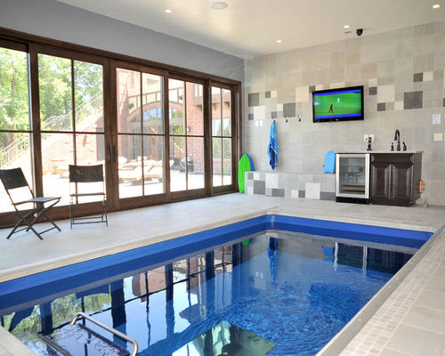 Example Of A Classic Indoor Pool Design In Denver