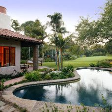 Mediterranean Pool by Maienza - Wilson Interior Design + Architecture
