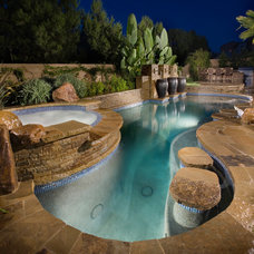Tropical Pool by Alderete Pools & Solar