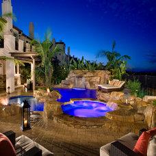 Mediterranean Pool by Alderete Pools & Solar
