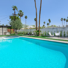 Contemporary Pool by House & Homes Palm Springs Home Staging