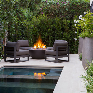 Example of a minimalist pool design in Orange County