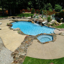 Rustic Deck Swimming Pool Design Ideas Pictures Remodel