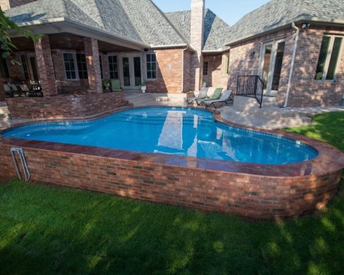 Transitional Oklahoma City Pool Design Ideas Remodels