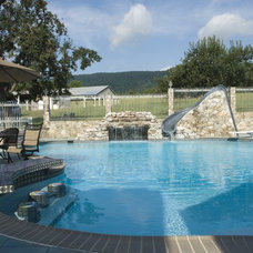 Farmhouse Pool by Welsh Construction, Inc.