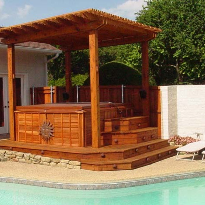 Outdoor Gazebo & Spa - North Dallas, TX