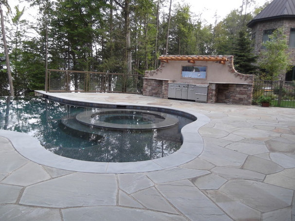 Contemporary Pool by Aesthetic Tile Imaging