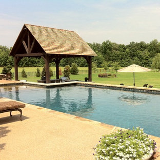 Inspiration for a transitional pool remodel in Other