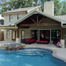Traditional Pool by Champions Remodeling
