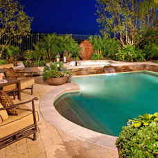 Mediterranean Pool by Mclaughlin Landscape Construction
