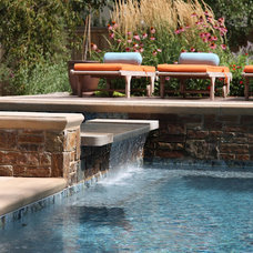 Eclectic Pool Outdoor Living & Kitchen Space