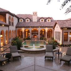 Mediterranean Pool by Simmons Estate Homes
