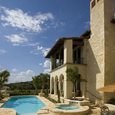 Mediterranean Pool by Braswell Architecture, Inc.