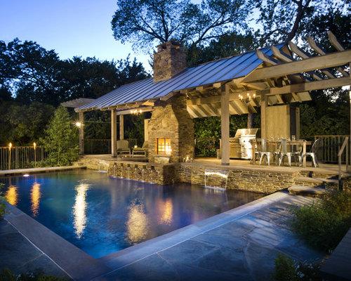 Rustic pool pavilion home design photos decor ideas for Pool pavilion plans